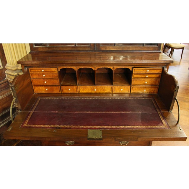 18th Century George III Bookcase Secretaire For Sale In Raleigh - Image 6 of 9