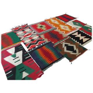 11 Antique Germantown Navajo Indian Sampler Rugs For Sale