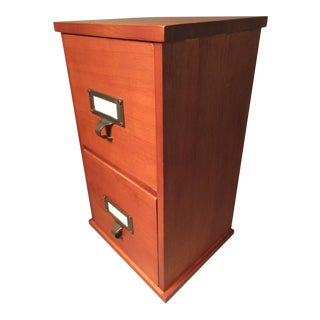 Mid-Century Modern 2-Drawer Cherrywood Catalog File Cabinet For Sale