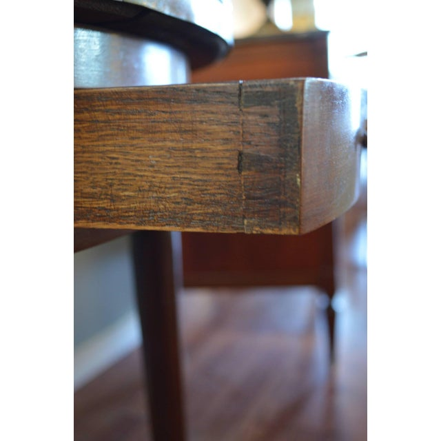 Early 20th Century Louis XVI Style Mahogany Bouillotte Table With Original Marble Top For Sale - Image 5 of 9