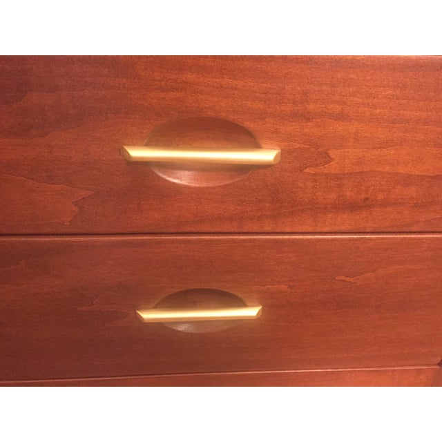 Art Moderne Two-Piece Breakfront Hutch - Image 10 of 11