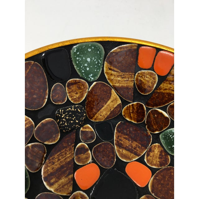 1960s Mid Century Modern Multi-Colored Mosaic Tile Bowl For Sale - Image 5 of 6