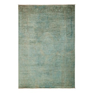 "Vibrance Over Dyed Hand Knotted Area Rug - 4'7"" X 6'9"""