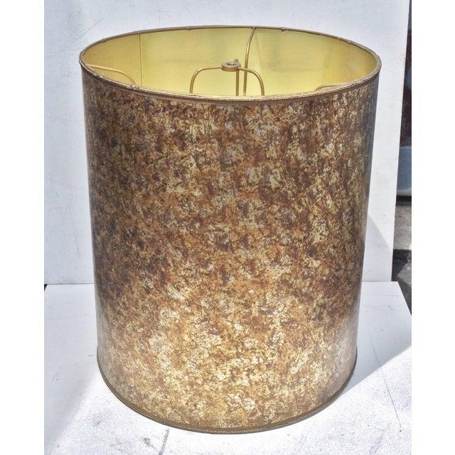 Mid-Century Modern Barrel Lampshade Tortoise Shell - Image 3 of 6