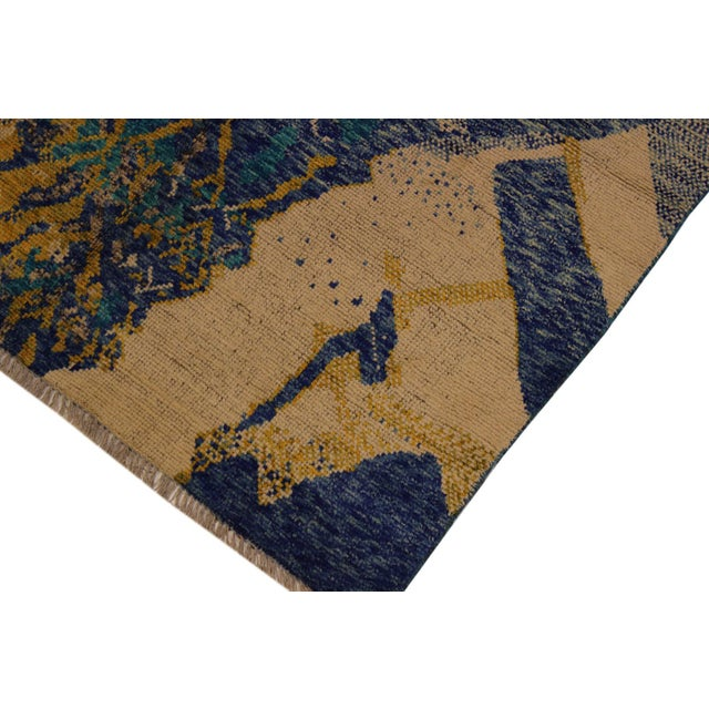 Transitional Balouchi Albertha Blue Wool Rug - 4′10″ × 6′6″ For Sale - Image 3 of 8