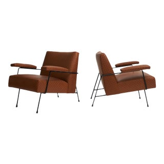 Pair of Lounge Chairs by Milo Baughman for Pacific Iron For Sale