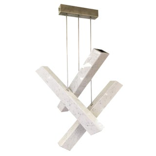 "Customizable ""Ares"" Contemporary Carrara Marble Chandelier For Sale"