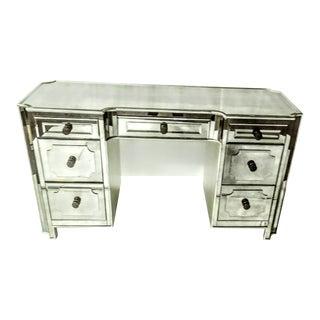 Contemporary Basset Mirrored Knee Hole Desk