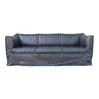1980s Vintage Italian Leather Sofa For Sale