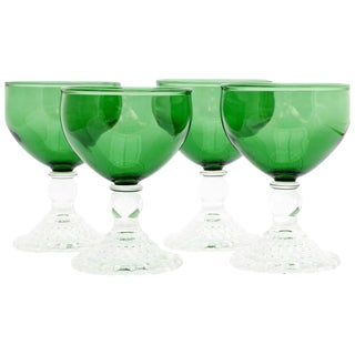 Anchor Hocking Green Liqueur Glasses - Set of 4