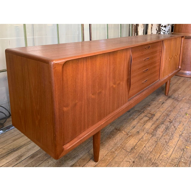 Danish 1950s Teak Credenza Cabinet For Sale - Image 9 of 11