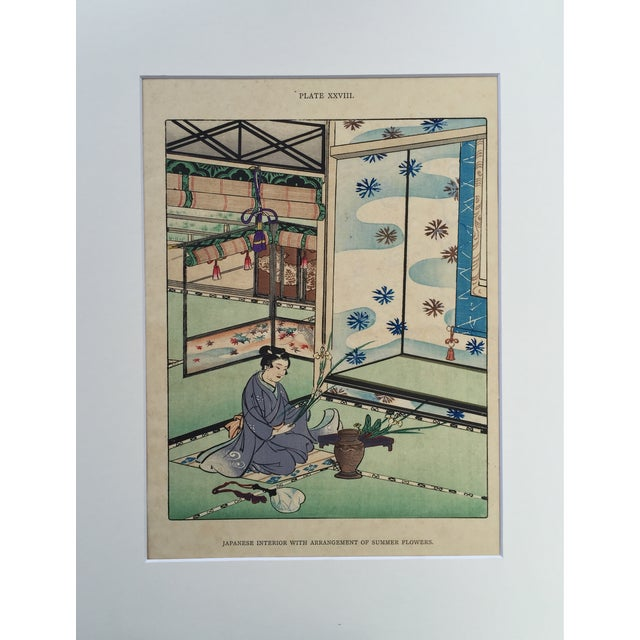 Asian Japanese Flower Arranging Wood Block Print For Sale - Image 3 of 5