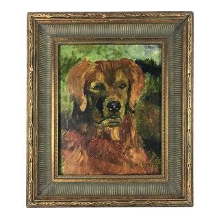 Framed Golden Retriever Dog Portrait For Sale