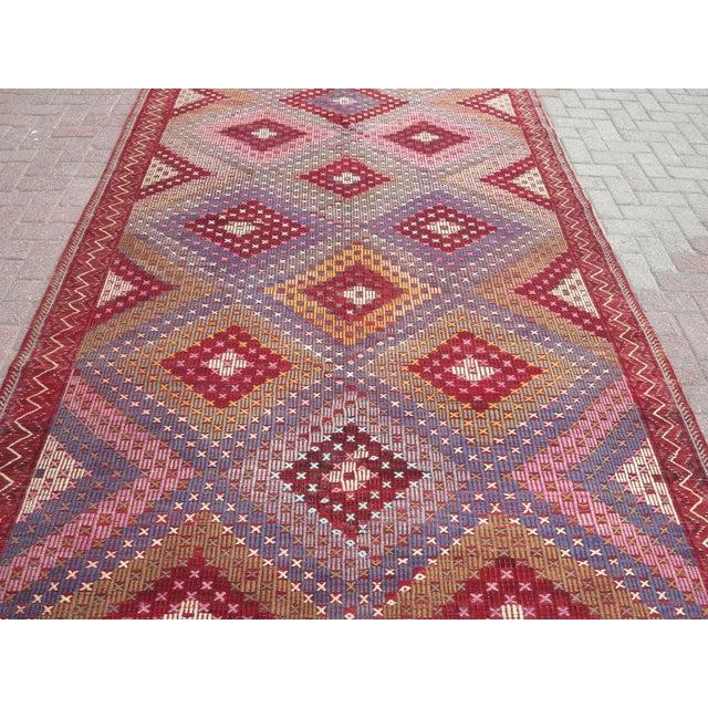 "Rug & Kilim Vintage Turkish Handmade Kilim Rug-6'1'x9'7"" For Sale - Image 4 of 13"