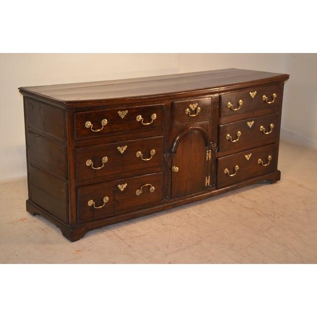 Georgian 18th Century English Oak Dresser Base For Sale - Image 3 of 10