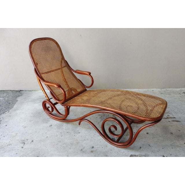 20th Century Mid-Century Modern Thonet Chaise Lounge Chair For Sale In Miami - Image 6 of 13
