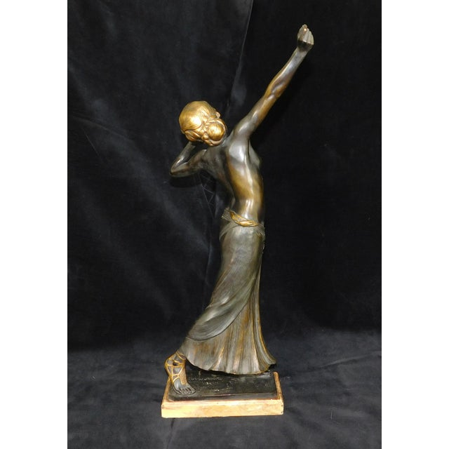 Art-Nouveau Bronze Sculpture Salome ~ Rudolf Marcuse Gladenbeck & Sohn Foundry For Sale - Image 4 of 11