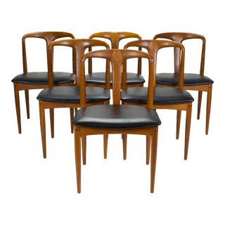 1960s Vintage Danish Modern 'Juliane' Dining Chairs by Johannes Andersen- Set of 6 For Sale