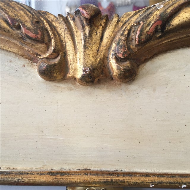 Hand Painted Italian Rococo Gilded Mirror - Image 4 of 11