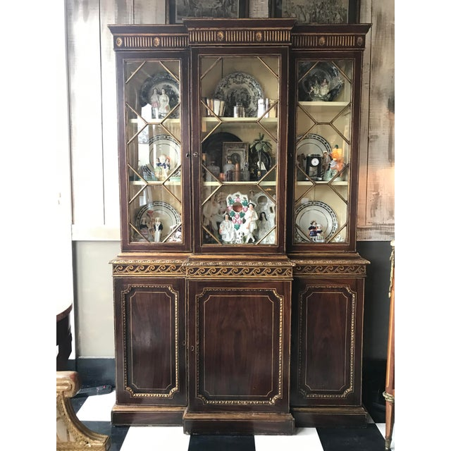 Traditional 19th Century George III Painted Gilt Breakfast Bookcase For Sale - Image 3 of 9