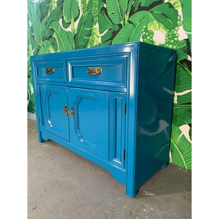 Thomasville Sideboard Cabinet in Blue Lacquer Preview