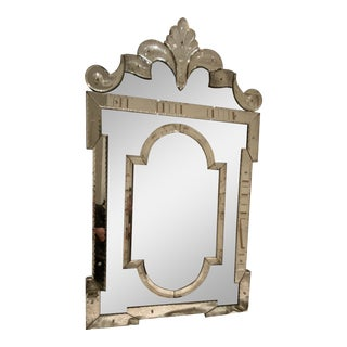 Authentic Stephen Calvallo Venetian Mirror For Sale