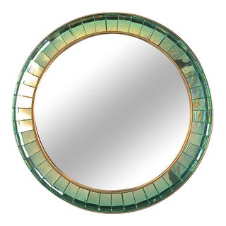 Hand-cut Crystal Glass Mirror by Ghiro For Sale