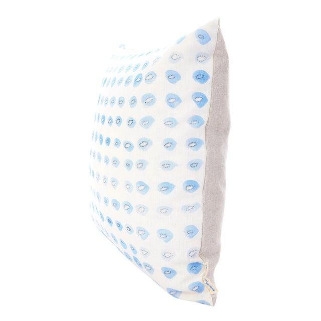 "Blue Kiwis Linen Pillow - 16"" X 20"" - Image 2 of 5"