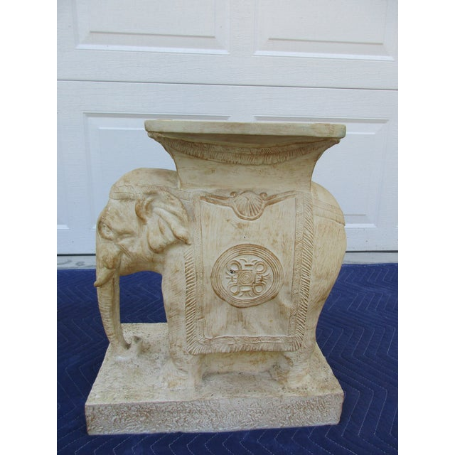 Asian 20th Century Boho Chic Elephant Pedestals - a Pair For Sale - Image 3 of 13