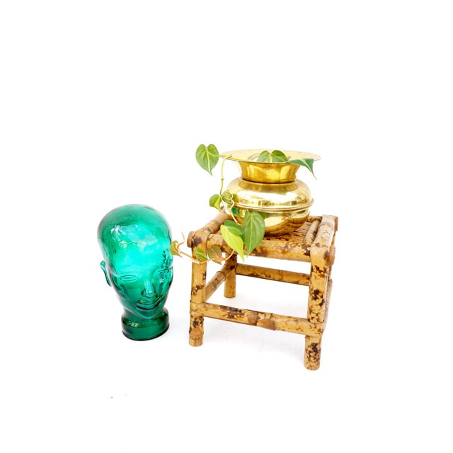 Vintage Tortoise Bamboo Plant Stand For Sale - Image 9 of 11