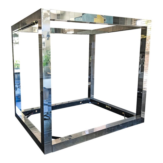 Paul Evans Queen Size Cityscape Four Poster Canopy Bed For Sale