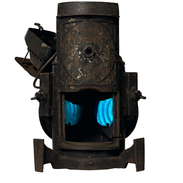 19th Century Industrial Adlake Rare Railroad Switching Light/Lantern For Sale - Image 9 of 13