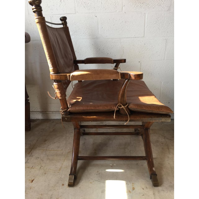 Safari Leather Side Chair - Image 3 of 4