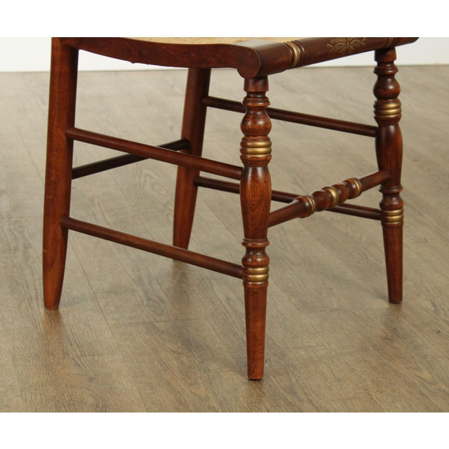"Brown Hitchcock Norman Rockwell ""Freedom of Worship"" Limited Edition Side Chair For Sale - Image 8 of 13"