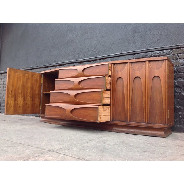 Broyhill Brasilia Style Credenza For Sale - Image 4 of 6