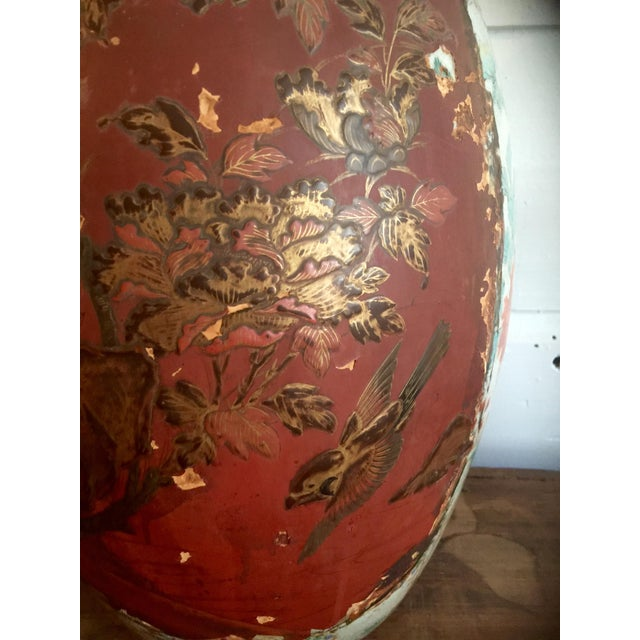 Antique Plaster Relief Chinese Vase - Image 4 of 5