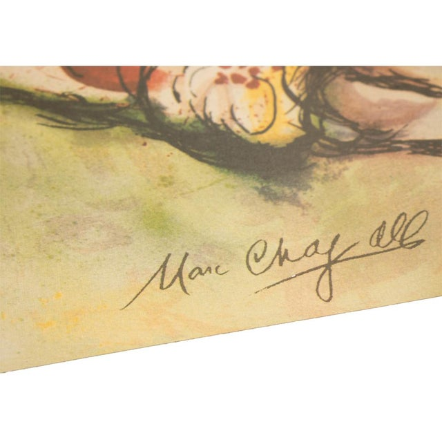 """Marc Chagall """"The Flying Bouquet"""", XL Limited Edition Print With C. O. A., C.1990s For Sale - Image 9 of 13"""
