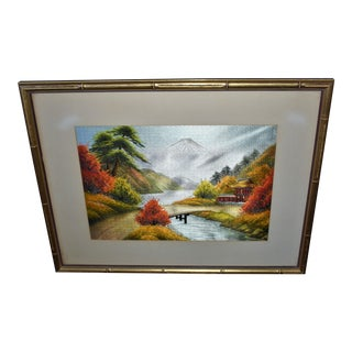 """Fall in the Mountains"" Chinese Embroidery For Sale"