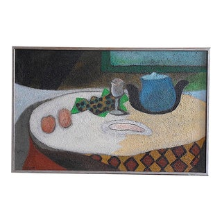 Original Signed Mid Century Vintage Still Life Painting For Sale