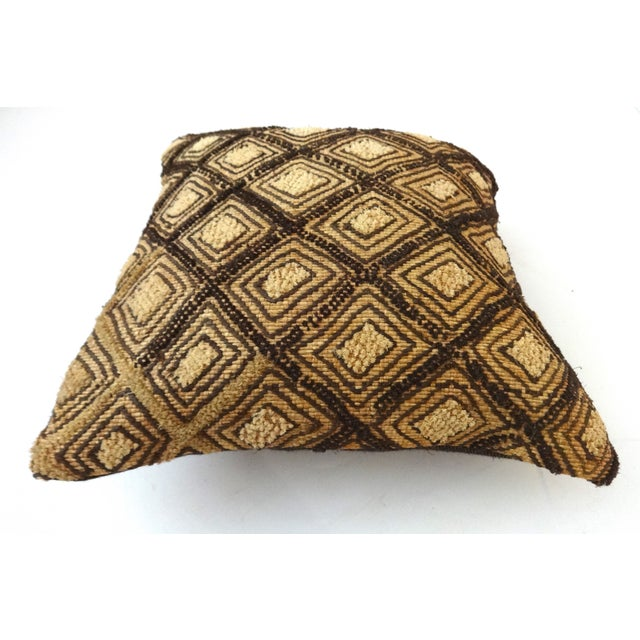 African Embroidered Kuba Textile Pillow Congo For Sale - Image 4 of 6