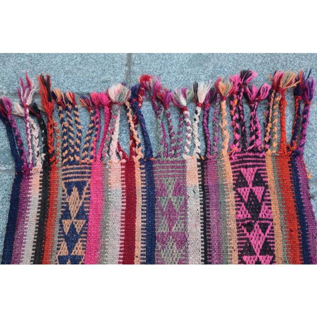 Colorful Striped Cicim Kilim -5' X 1' 5'' Kilim - Image 7 of 11
