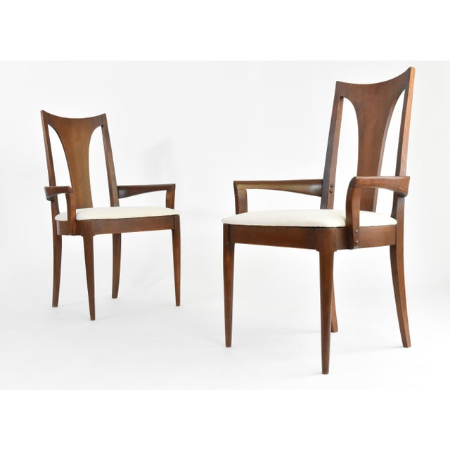 Mid-Century Broyhill Premiere Dining Chairs - Set of 6 - Image 5 of 10