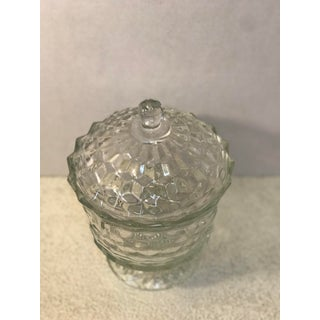 1950s Fostoria American Clear Whitehall Footed Pedestal Candy Dish With Lid Preview