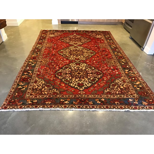 Large Hand Knotted Persian Rug - 6'11x10'0 - Image 11 of 11
