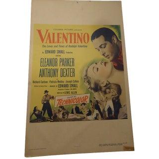 1950s Valentino Movie Lobby Card