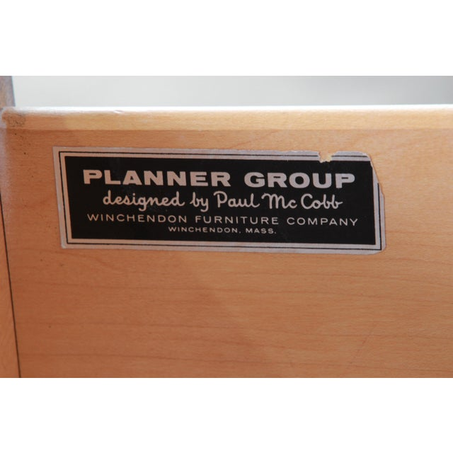 Paul McCobb Planner Group Black Lacquered Three-Drawer Bachelor Chest, Newly Restored For Sale - Image 12 of 13