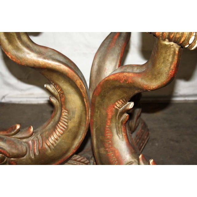 Early 19th Century 19th Century Solid Wood Carved Table Base With Gold Gilt For Sale - Image 5 of 9