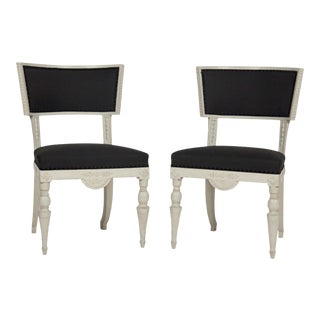 Late 18th Century Swedish Klismos Chairs- A Pair For Sale