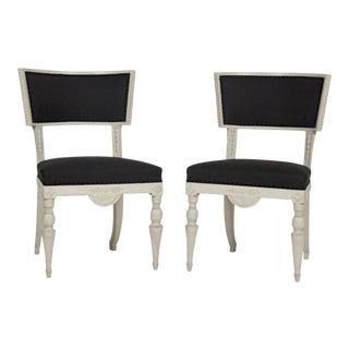 Late 18th Century Swedish Klismos Chairs - a Pair