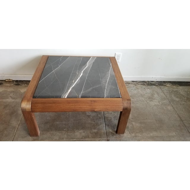 1920's Vintage Waterfall Edge Wood Coffee Table For Sale In Los Angeles - Image 6 of 6